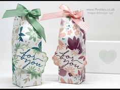 Stampin' Up! Blooms and Bliss Pretty Box - YouTube