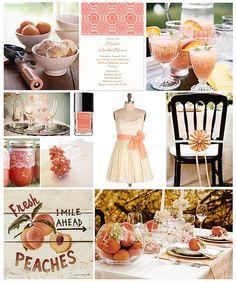 A Vintage Peach Bridal Shower