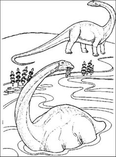 coloring page Dinosaurs 2 Apatosaurus Coloring pages Pinterest