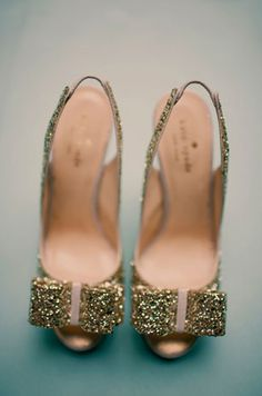 Kate Spade sparkly pumps. Add these and some statement earrings with your cap & gown and you're good to go!