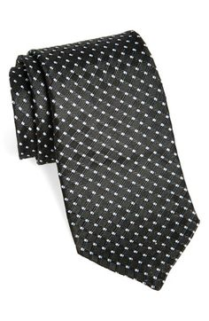 Black + white dotted tie