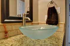 glass bowl sink bathroom