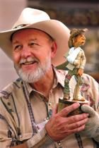 Gerald Sears, founding member of the Caricature Carvers of America. Awesome woodcarver and knife maker.