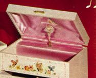 musical ballerina box - of course I had one of these!
