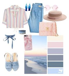 """""""Beach day"""" by t-elks on Polyvore featuring мода, Solid & Striped, AG Adriano Goldschmied, Bionda Castana, Chanel, Karen Walker, Maison Michel, Taolei и Charlotte Russe"""