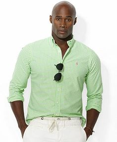 Polo Ralph Lauren Big and Tall Gingham Checked Oxford Shirt