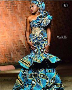 Ankara Skirt And Blouse, Ankara Dress Styles, Ankara Gowns, Blouse Dress, African Attire, African Wear, African Dress, African Outfits, African Style