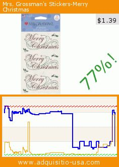 Mrs. Grossman's Stickers-Merry Christmas (Misc.). Drop 77%! Current price $1.39, the previous price was $5.93. https://www.adquisitio-usa.com/mrs-grossman/mrs-grossmans-stickers-8