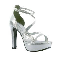 Touch Ups Women's Breeze Platform Sandal Silver/Champagne/Pewter #shoes #benjaminwalkshoes #heels #wedding #bridal #bridal