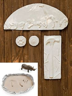 Plaster Plaques: For open-ended, hands-on fun, nothing beats messing with plaster. Kids will love the process of pressing cool doodads into clay, using foil to create a simple mold, and pouring in plaster of Paris. When dry, the results are amazing and make a fab camp keepsake.