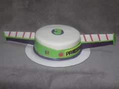 Buzz Lightyear (from Toy Story) themed cake.  I made the wings from gumpaste about 5 days ahead of time.