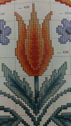 This Pin was discovered by Bah Cross Stitch Flowers, Cross Stitch Patterns, Diy And Crafts, Arts And Crafts, Bargello, Needlepoint, Projects To Try, Embroidery, Blog