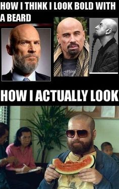 How I Actually Look With A Bald Head And Beard! - Posted in Funny, Troll comics and LOL Images - LOL Heaven