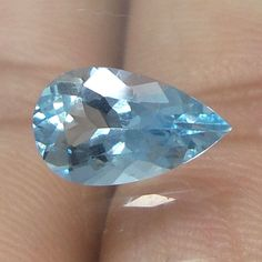 10x6 MM TOP Natural UNTREATED Aquamarine 1.2 Cts Pear Cut Stone GOOD QUALITY  #NAAZGEMS