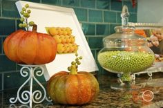 DIY Fall Craft~ pumpkins + white frame (you could use this idea for almost any holiday, and reuse the frame!)