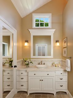 Built In Bathroom Mirror Design, Pictures, Remodel, Decor and Ideas - page 21