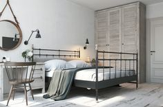scandinavian style bedroom ideas is one of the best decor to make your room beautiful. Scandinavian Bedroom Ideas That Are Modern And Stylish you can make Scandinavian Bedroom Decor, Grey Bedroom Decor, Trendy Bedroom, Home Bedroom, Bedroom Small, Bedroom Ideas, Bedroom Inspiration, Bedroom Mirrors, Master Bedrooms