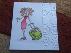 "A STAMPING & CHIRPING Corner: ""Cuttlebug - over the edge"" tutorial. Just emboss an edge."