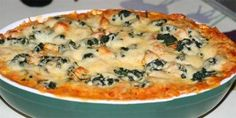 Lasagne med kylling. Good Food, Yummy Food, Danish Food, Kitchen Time, Moussaka, Cheeseburger Chowder, Italian Recipes, Quiche, Macaroni And Cheese