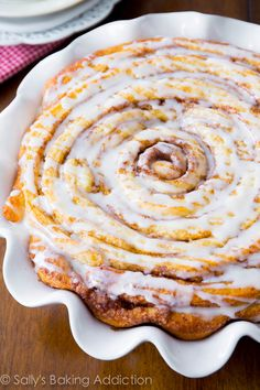 Giant Cinnamon Roll Cake - soft, fluffy, and extra large! Perfect for birthday morning