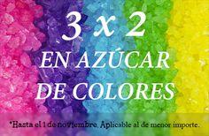 Dale un toque de color a tus dulces con los azúcares de Dulce Solución. Ahora 3 x 2 hasta el 1 de noviembre o fin de existencias.  http://tienda.fondant-cupcakes.com www.fondant-cupcakes.com