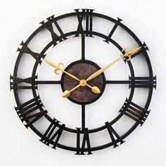 17 inch vintage large decorative wall clock roman numeral fashion silent decor…