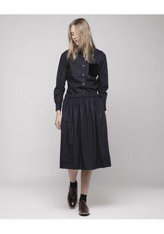Comme des Garçons Shirt / Velvet Pocket Shirt