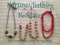 Fabric covered nursing necklaces are a fun way to dress up your new mom attire. Some people refer to these as chew beads or teething necklaces. Nursing Necklace, Teething Necklace, Teething Jewelry, Teething Toys, Fabric Necklace, Love Necklace, Mom Jewelry, Diy Jewelry Making, Breastfeeding Necklace