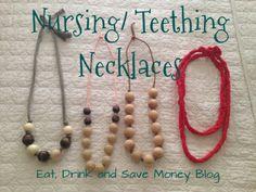 Nursing necklace, teething necklace, DIY nursing necklace, DIY teething necklace, chewbeads, fabric necklace
