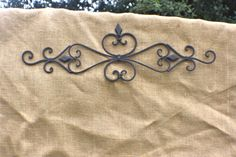 Wrought Iron Wall Art/ Metal Wall Hanging/ Indoor/ Outdoor Metal Wall Art/ Patio/ Fleur De Lis/ Garden Decor on Etsy, $34.95