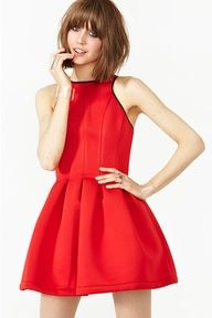 Structured red dress @NASTY GAL