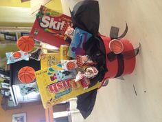 Basketball banquet candy centerpieces.