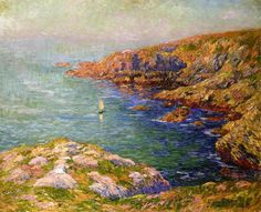 Calm, Coast of Brittany, 1906. Henri Moret