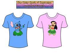Best Buddies - Hula Lilo and Stitch Disney Matching Couples T-Shirts