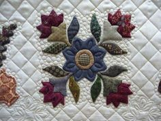 very pretty applique and quilting detail by Janet Lee