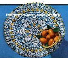 Orange Blossom doily free vintage crochet doilies patterns