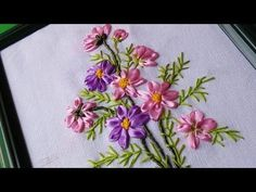 Wall Decorating Ideas | Ribbon Embroidery Flowers by Hand | HandiWorks #58 - YouTube