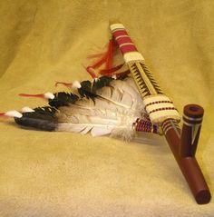 porcupine quillwork native american lakota | Bowl Stem Front view