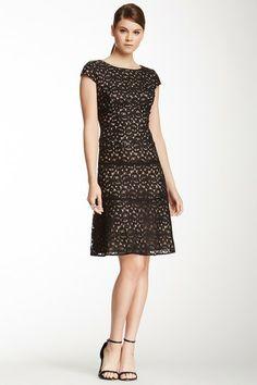 Anne Klein Ribbon Lace Swing Dress by Non Specific on @HauteLook