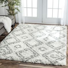 nuLOOM-Alexa-My-Soft-and-Plush-Moroccan-Diamond-White-Easy-Shag-Rug-67-x-9