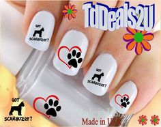 Schnauzer No.4 Got Schnauzer? - Dog Breed Nail Decals - WaterSlide Nail Art Decals - Highest Quality! Made in USA ** This is an Amazon Affiliate link. Continue to the product at the image link.