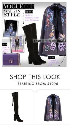 """""""Fall Footwear: Over-The-Knee Boots!"""" by alves-nogueira ❤ liked on Polyvore featuring Dolce&Gabbana, Temperley London and Diane Von Furstenberg"""