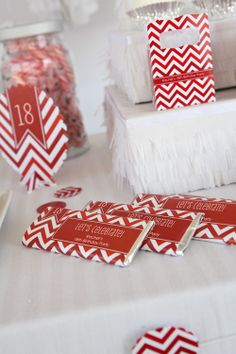 Red Hot: Red Chevron Party Supplies - Perfect for baby showers, birthday parties, bridal showers and everyday parties @BigDotOfHappiness.com #BigDot #HappyDot