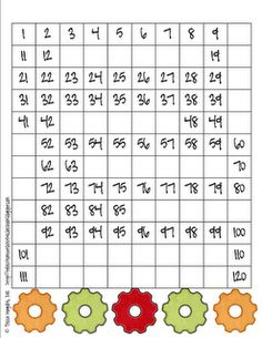 Classroom Freebies: 120 Number Grids