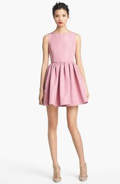 Red Valentino Pink Full Skirt Faille Dress