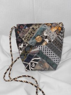 Evening Bag Small Neckties by TheTieStore on Etsy