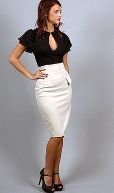 Sequin Pencil Skirt #VictoriasSecret http://www.victoriassecret ...