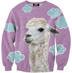 Buy New Fashion Mens/Womens LAMA Animal Funny Print Casual Sweatshirt at Wish - Shopping Made Fun Alpacas, Printed Sweatshirts, Mens Sweatshirts, Long Hoodie, Crew Neck Sweatshirt, Sweat Shirt, Lama Animal, Animal Sweater, Outfits