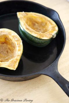 Clean Eating Baked Acorn Squash
