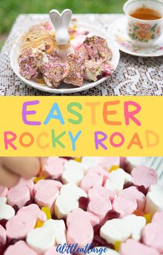 Easter Rocky Road - Kid Friendly Recipe - A Little At Large The ultimate Easter dessert recipe for making your own bunny-themed rocky road! So simple and easy, kids can make it! Honey Roast Ham, Honey Glazed Ham, Easter Recipes, Dessert Recipes, Desserts, Vegan Chocolate, Melting Chocolate, Easter Side Dishes, Roasted Ham